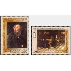 2 عدد تمبر 175مین سالگرد تولد N. N. Ge  - نقاش - روسیه 2006
