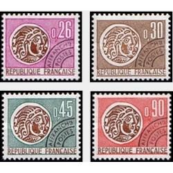 4 عدد تمبر سکه های سلتیک - فرانسه 1971