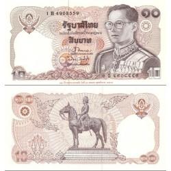 اسکناس 10 بات - تایلند 1995 زیرنویس 120مین سالگرد وزارت دارائی در حاشیه زیر روی اسکنای