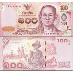 اسکناس 100 بات - تایلند 2016