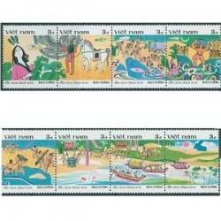 8 عدد تمبر افسانه های پریان - ویتنام 1987