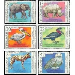 6 عدد تمبر صدمین سالگرد باغ وحش شهر صوفیه - حیوانات - بلغارستان 1988