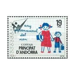 1 عدد تمبر روز جهانی کودک - نقاشی -اسپانیا آندورا 1979