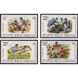 4 عدد تمبر محاصره تپه بریستول - آنگوئیلا 1971