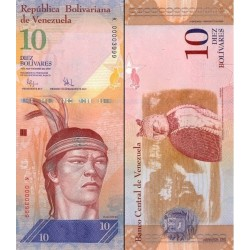 اسکناس 10 بولیوار - ونزوئلا 2009