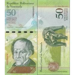 اسکناس 50 بولیوار - ونزوئلا 2012  تایخ   27.12.2012