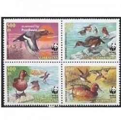 4 عدد تمبر اردکها - آذربایجان2000