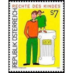 1 عدد تمبر حقوق کودک - نقاشی - اتریش 1993