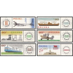 6 عدد تمبر 20مین سال شکل گیری صنعت کشور - با تب - لهستان 1966