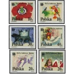 6 عدد تمبر داستانهای دنباله دار هانس کریستین آندرسن - نمایشگاه بین المللی تمبر هافنیا - کپنهاگ دانمارک - لهستان 1987