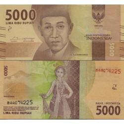 اسکناس 5000 روپیه - اندونزی 2016