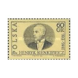 1 عدد تمبر یادبود هنریک سینکیهویچ - ژورنالیست و برنده جایزه نوبل  - لهستان 1966