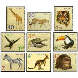 9 عدد تمبر حیوانات باغ وحش  - لهستان 1972 قیمت 10 دلار