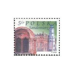 1 عدد تمبر شهرهای لهستان - sandomierz- لهستان 2004