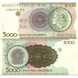 اسکناس 5000 کروزرو - برزیل 1990