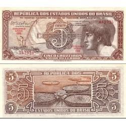 اسکناس 5 کروزرو - برزیل 1962