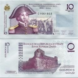 اسکناس 10 گوردس - هائیتی 2004