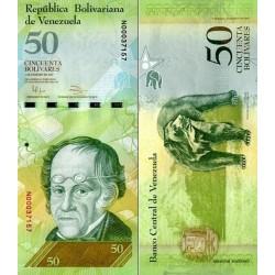 اسکناس 50 بولیوار - ونزوئلا 2011 تایخ 03.02.2011