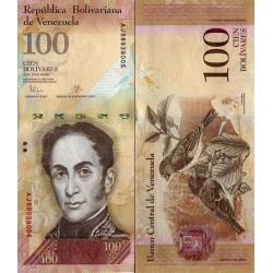 اسکناس 100 بولیوار - ونزوئلا 2015 تایخ 23.06.2015