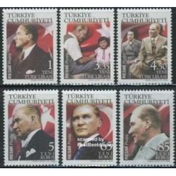 6 عدد تمبر یادبود آتاتورک - ترکیه 2008 قیمت 9.8 یورو