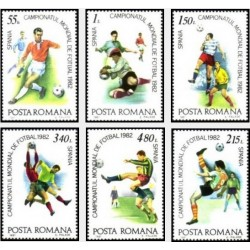 6 عدد تمبر جام جهانی فوتبال اسپانیا - رومانی 1981