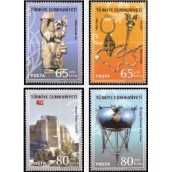 4 عدد تمبر تمدن آناتولی - اورارتو - ترکیه 2008