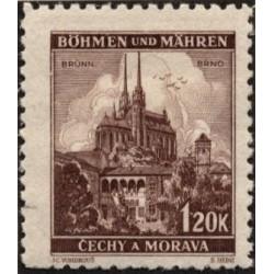 1 عدد تمبر  مناظر- Brünn  - بوهمیا و موراویا 1940