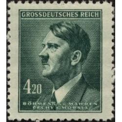 1 عدد تمبر سری پستی - هیتلر - بوهمیا و موراویا 1945