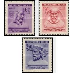 3 عدد تمبر خیریه زمستانه - بوهمیا و موراویا 1943