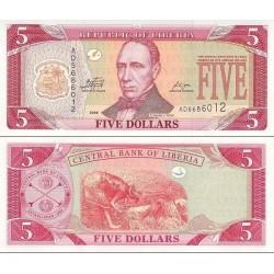 اسکناس 5 دلار - لیبریا 2009