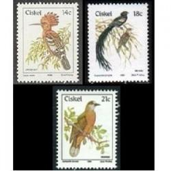 3 عدد تمبر سری پستی پرنده - سیسکی 86- 89- 90