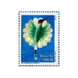 1 عدد تمبر روز ملی دیابت  - برزیل 1992