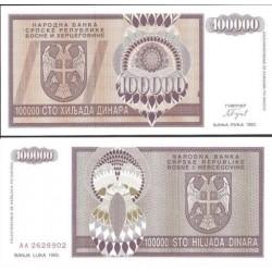 اسکناس 100.000 دینار - بوسنی و هرزگوین 1993