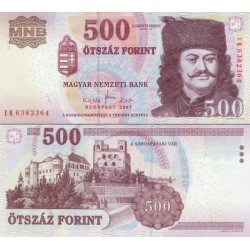 اسکناس 500 فورینت - مجارستان 2007