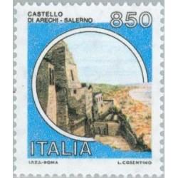 1 عدد تمبر سری پستی قلعه ها - ایتالیا 1992