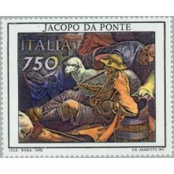 1 عدد تمبر 400مین سال مرگ جاکوپو پومنه - نقاش - ایتالیا 1992
