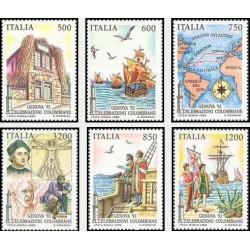 6 عدد تمبر 500مین سال کشف آمریکا - جنووا - ایتالیا 1992 قیمت 10.5 دلار