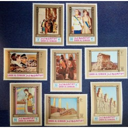 8 عدد بلوک سری تمبر 2500مین سال پادشاهی ایران - B - ام القوین 1972
