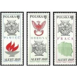 3 عدد تمبر مدال پیشاهنگی و انجمن پرچمداران  - لهستان 1969