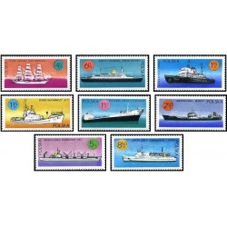 8 عدد تمبر کشتیهای تحت پرچم لهستان  - لهستان 1971