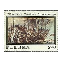 1 عدد تمبر 150مین سالگرد قیام نوامبر - تابلونقاشی  -  لهستان 1980