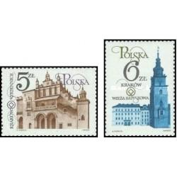 2 عدد تمبر بناهای تاریخی کراکوف  -  لهستان 1983