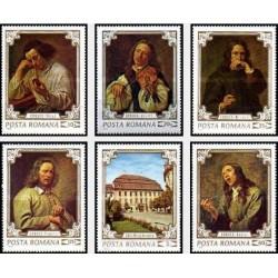 6 عدد تمبر تابلوهای نقاشی موزه بروکنتال در شهر سیبیو - پرتره - رومانی 1970