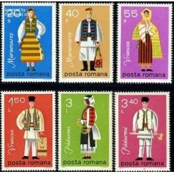 6 عدد تمبر لباسهای محلی - رومانی 1979
