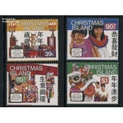 4 عدد تمبر سال جدید چینی - جزائر کریستمس 1989 با شارنیه