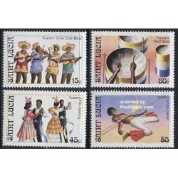 4 عدد تمبر گردشگری - موسیقی - سنت لوئیس 1986