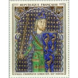1 عدد تمبر تابلو نقاشی اثر جفری نمایشگاه لیموزین قرن دوازدهم - فرانسه 1964
