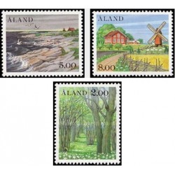 3 عدد تمبر مناظر - آلاند 1985 قیمت 6.5 دلار