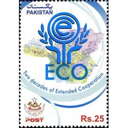 1 عدد تمبر دو دهه سازمان توسعه همکاری  اکو - پاکستان 2013