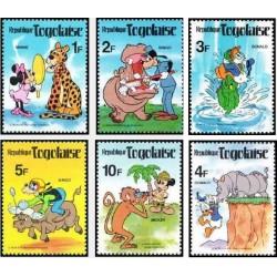 6 رقم از 8 عدد تمبر  دنیای والت دیسنی - توگو 1980